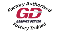 gardner denver, blower repair, factory authorized, factory trained